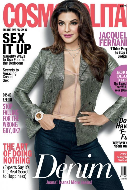 JACQUELINE FERNANDEZ in Cosmopolitan Magazine, India June 2018 Issue