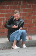 JAIME KING Takes a Cigarette Break at a Studio in Los Angeles 05/31/2018