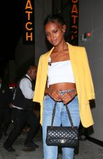 JASMINE TOOKES Leaves Catch LA in West Hollywood 06/04/2018