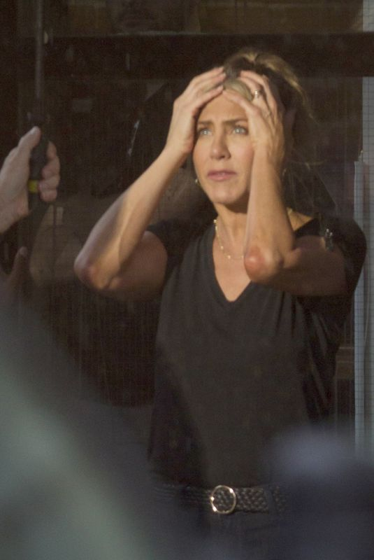 JENNIFER ANISTON on the Set of Murder Mystery in Montreal 06/20/2018
