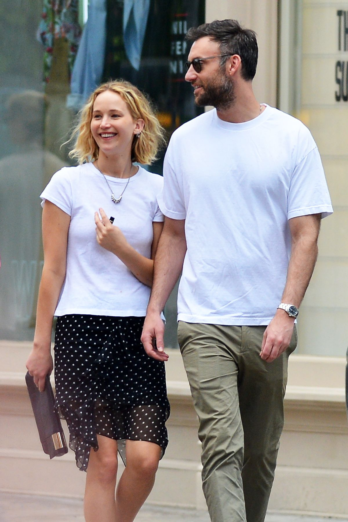 JENNIFER LAWRENCE and Cooke Maroney Out in New York 06/05 ...