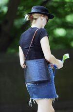 JENNIFER LAWRENCE in Denim Skirt Out in New York 06/25/2018