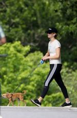 JENNIFER LAWRENCE Out wih Her Dog in Central Park in New York 06/10/2018