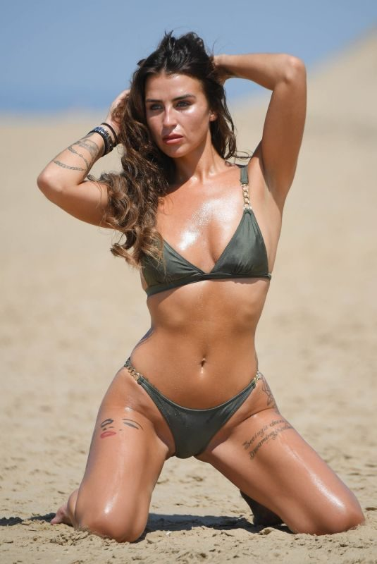 JENNY THOMPSON in Bikini at a Beach in England 06/27/2018