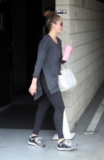 JESSICA ALBA Leaves a Gym in Los Angeles 06/23/2018