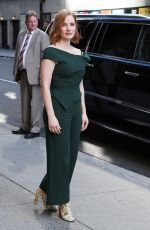 JESSICA CHASTAIN Arrives at Late Show with Stephen Colbert in New York 06/25/2018
