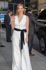 JESSICA CHASTAIN at Ed Sullivan Theater in New York 06/25/2018