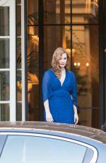 JESSICA CHASTAIN Leaves Shangri-la Hotel in Paris 06/18/2018