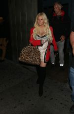 JESSICA SIMPSON Leaves Warwick Lounge in Hollywood 06/29/2018