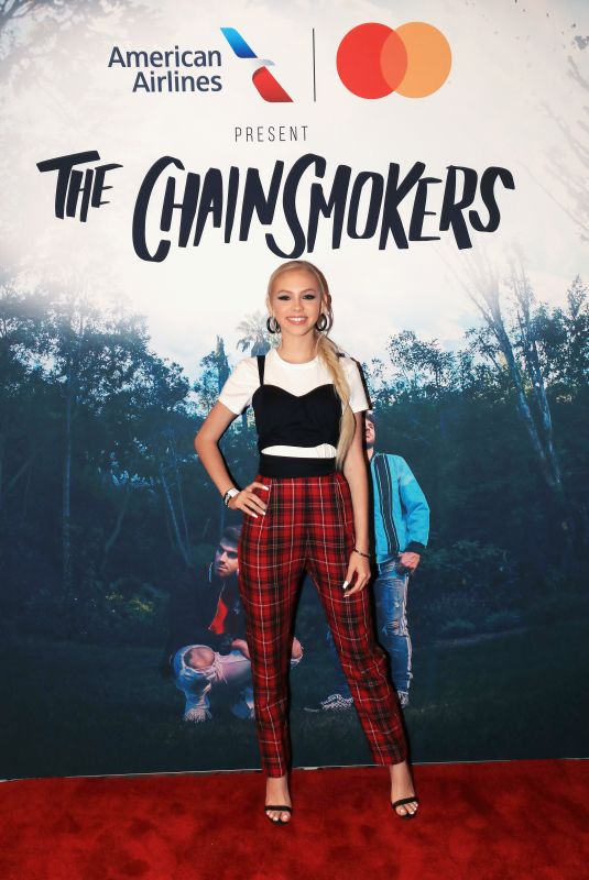 JORDYN JONES at American Airlines and Mastercard Present the Chainsmokers at the Wiltern in Los Angeles 06/14/2018