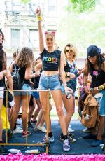 JOSEPHINE SKRIVER at Pride March in New York 60/24/2018