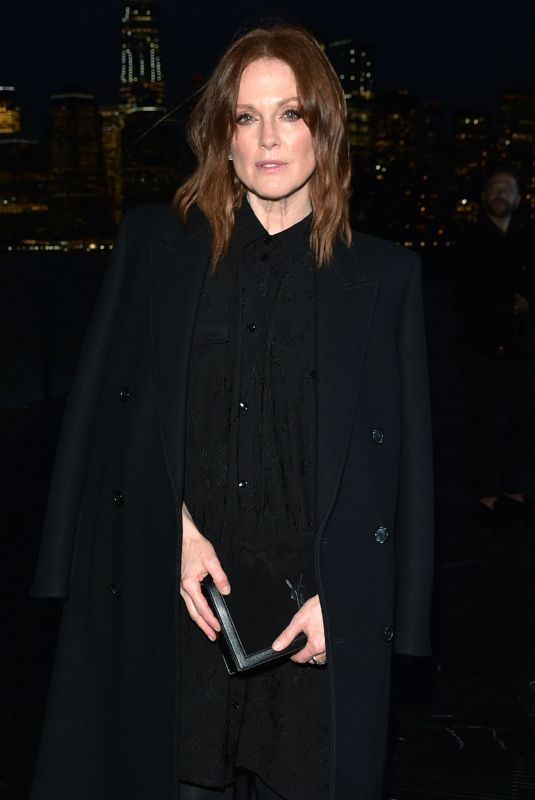JULIANNE MOORE at Saint Laurent Spring/Summer 2019 Fashion Show at NYFW in New York 06/06/2018
