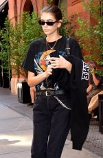 KAIA GERBER Leaves Her Hotel in New York 06/29/2018