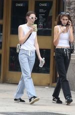 KAIA GERBER Out Shopping with a Friend in New York 06/02/2018
