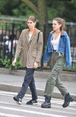 KAIA GERBER Out With a Friend in New York 06/13/2018