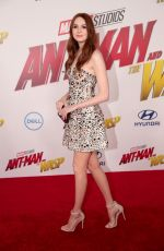KAREN GILLAN at Ant-man and the Wasp Premiere in Los Angeles 06/25/2018