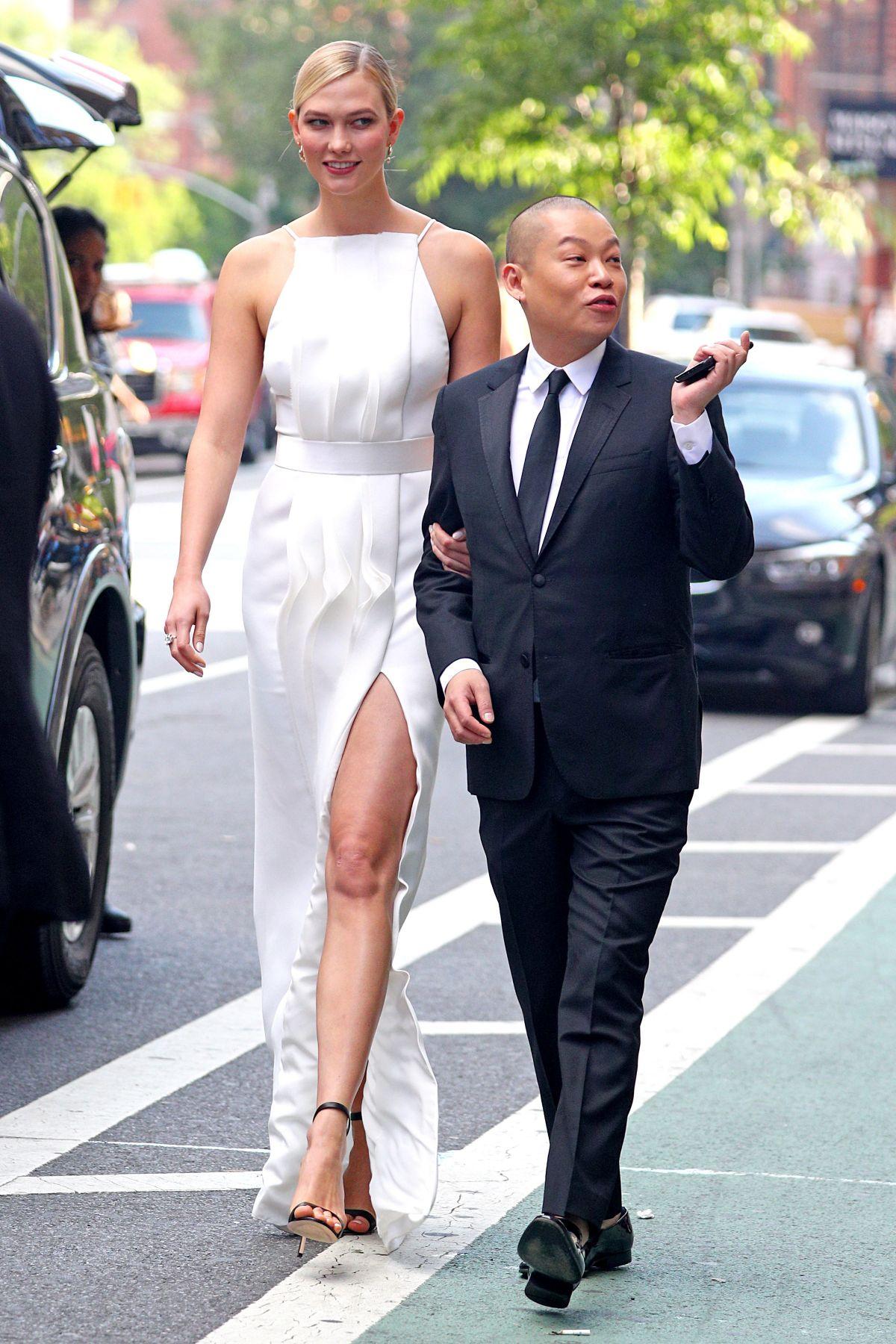 KARLIE KLOSS and Jason Wu Head...