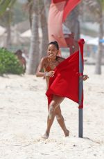 KARRUECHE TRAN in Bikini at a Beach in Cancun 06/28/2018