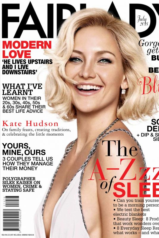 KATE HUDSON in Fairlady Magazine,July 2018 Issue