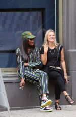 KATE MOSS and NAOMI CAMPBELL Take in a Smoke in New York 06/07/2018