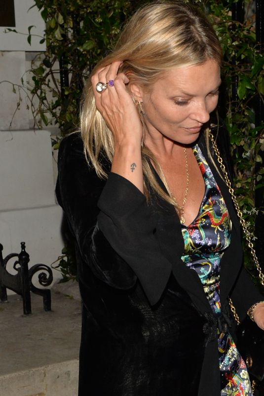KATE MOSS Out and About in London 06/26/2018
