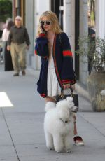 KATHRYN NEWTON Out with Her Dog on Rodeo Drive in Beverly Hills 06/20/2018