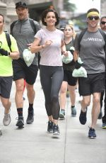 KATIE HOLMES at Johns Westin Hotels & Resorts to Run in New York 06/06/2018