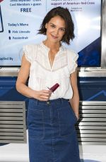 KATIE HOLMES at Perksicle Tour Event at Rockefeller Center in New York 06/21/208