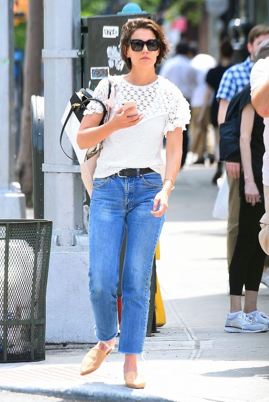 KATIE HOLMES in Jeans Out in New York 06/08/2018