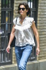 KATIE HOLMES in Jeans Out in New York 06/21/2018