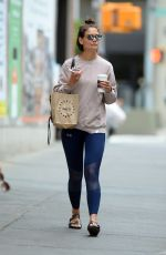 KATIE HOLMES Out for Coffee in New York 06/22/2018