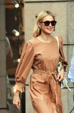KELLY RUTHERFORD Out Shopping in Milan 06/26/208