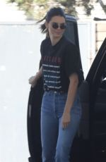 KENDALL JENNER at a Gas Station in Los Angeles 06/27/2018