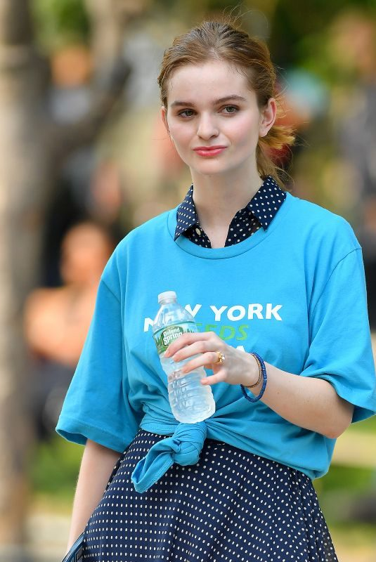 KERRIS DORSEY on the Set of Ray Donovan at Washington Square Park in New York 06/18/2018