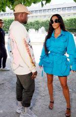 KIM KARDASHIAN and Kanye West at Louis Vuitton Show at Paris Fashion Week 06/21/2018