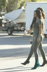 KIM KARDASHIAN and KYLIE JENNER in Tights Out in Calabasas 06/11/2018