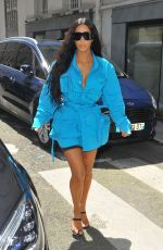 KIM KARDASHIAN Arrives at Louis Vuitton Fashion Show in Paris 06/21/2018