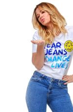 KIMBERLEY WALSH and UNA HEALY for Jeans for Genes, 2018
