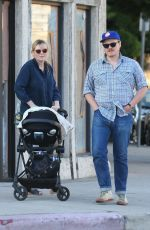 KIRSTEN DUNST and Jesse Plemons Out with Newborn Baby Ennis in Los Angeles 06/22/2018