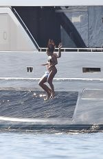 KOURTNEY KARDASHIAN in Bikini at a Yacht in Portofino 06/29/2018