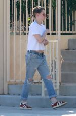 KRISTEN STEWART in Ripped Jeand Out in Los Angeles 06/11/2018