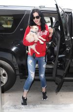 KRYSTEN RITTER with Her Dog at Los Angeles International Airport 06/04/2018