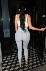 KYLIE JENNER in Tights Night Out in Los Angeles 06/16/2018