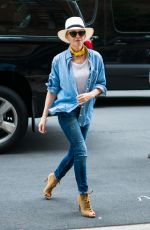KYLIE MINOGUE in Jeans Out in New York 06/22/2018