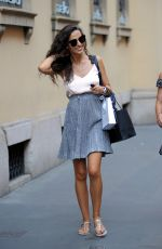 LAURA BARRIALES Out Shopping in Milan 06/21/2018