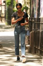 LAURA HARRIER in Jeans Out in New York 06/12/2018
