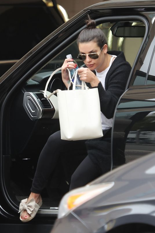 LEA MICHELE Arrives at Montage Beverly Hills 06/24/2018