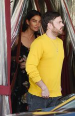 LILY ALDRIDGE and Caleb Followill Out for Dinner in Los Angeles 06/20/2018