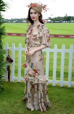 LILY COLLINS at Cartier Queens Cup Polo in Windsor 06/17/2018