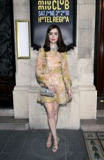 LILY COLLINS at Miu Miu 2019 Cruise Collection Show in Paris 06/30/2018